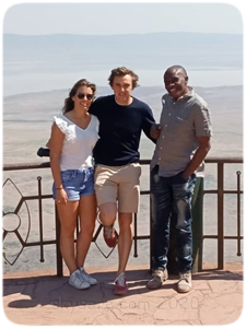 Stephen with clients Ngorongoro