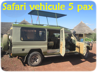 Toyota Land Cruiser 5 pax and driver