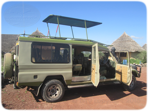Land Cruiser sky of serengeti safaris